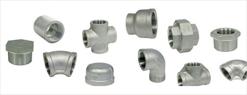 ASTM B 366 Alloy 20 Threaded Fittings in our stockyard