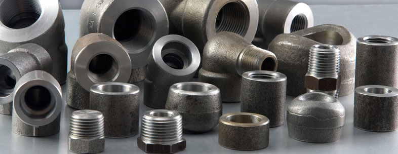 ASTM A182 Grade 321 Stainless Steel Forged Fittings in our stockyard